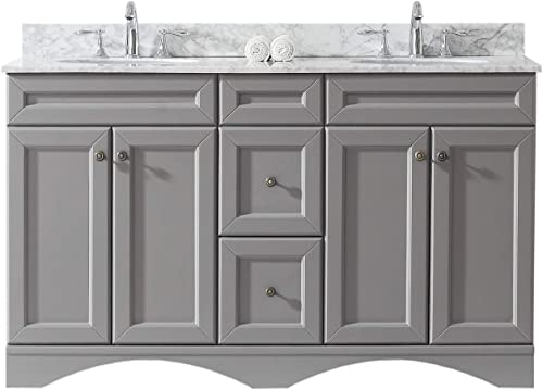 Virtu USA ED-25060-WMRO-GR-NM Talisa Bathroom Vanity, 60 inches, Cool Gray