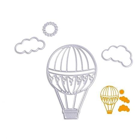 Naisicantar Plantillas de corte de globo de aire caliente, álbum de recortes DIY, troquelado