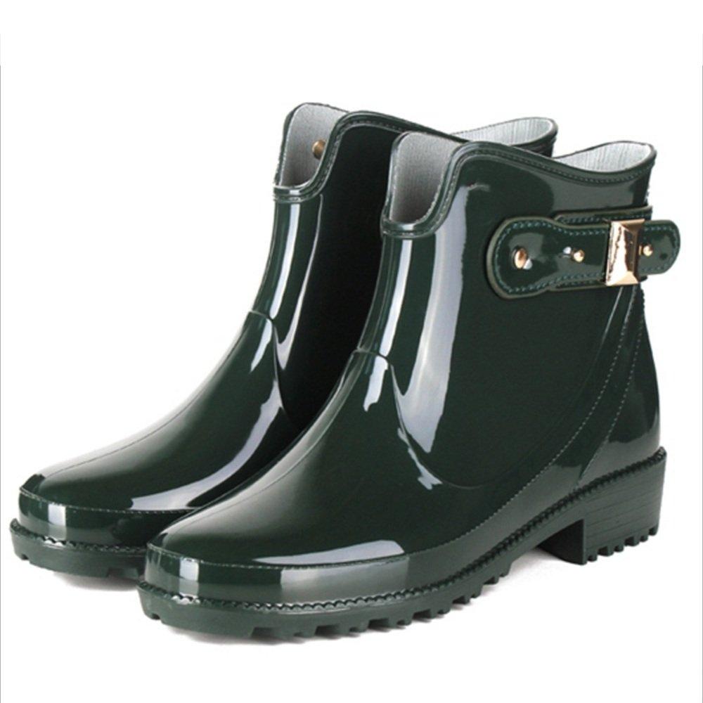 Stiefel de lluvia LHA Regenstiefel Regenstiefel Regenstiefel für Damen, modisch, Wasserstiefel für den Sommer, Rutschfest, für Erwachsene EU37 UK4.5-5 CN37 grün 62f37c