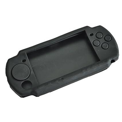 Caja de silicona - TOOGOO(R) Negro Caja cubierta piel de silicona jalea de goma suave para Sony Play Station Portable PSP 3000