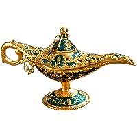 Talla de Metal Aladdin Lámpara Estatua Retro Aleación