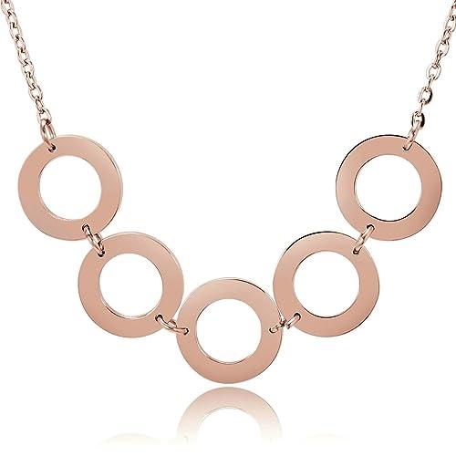 AnaZoz Collar Acero Inoxidable Collar de Mujer Collar ...
