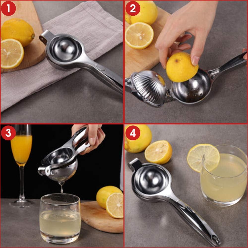 Lavable au Lave-Vaisselle copeaux de Fruits avec grattoir /à Citron Presse-Citron Vert press/é /à la Main Meilo Presse-Citron Orange et Citron Vert Presse-jus de Fruits