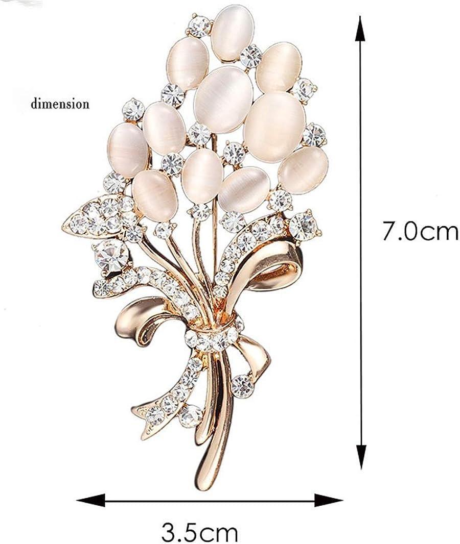 AILUOR Broche Esmalte Flor del tulip/án Elegante del Pin de Las Mujeres Ajustable