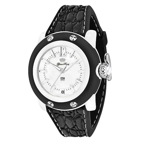 Glam Rock GR2302 - Reloj para mujeres color negro