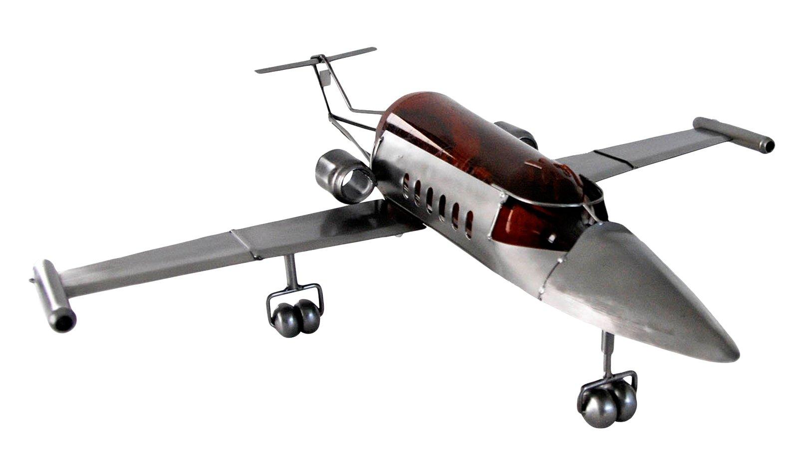 H & K Sculptures Jet Airplane Wine Bottle/Wine Caddy, null
