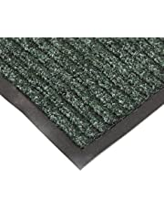 """NoTrax T39 Bristol Ridge Scraper Carpet Mat, for Wet and Dry Areas, 3' Width x 5' Length x 3/8"""" Thickness, Forest Green"""
