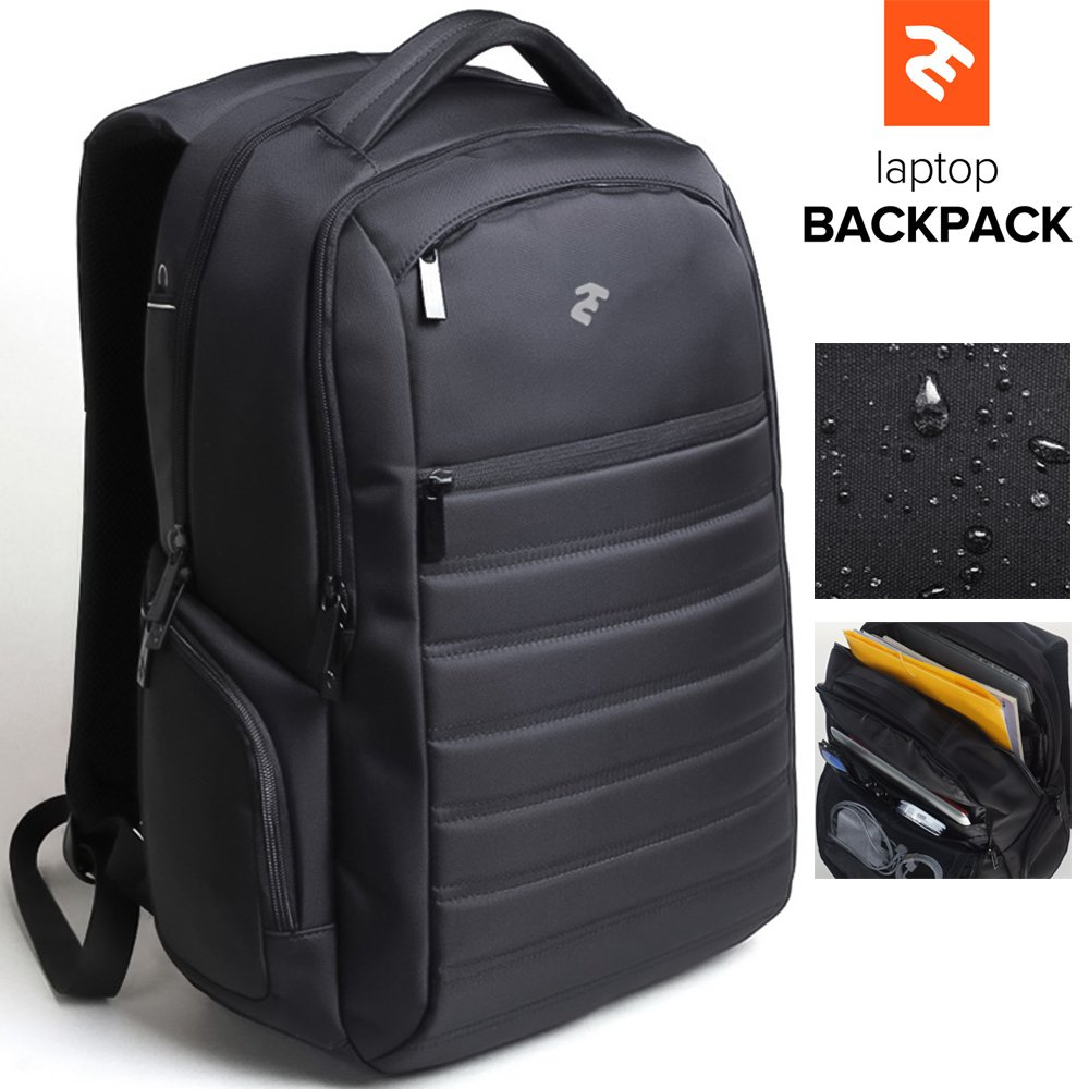 """Business Laptop Backpack with Headphone Port – 15,6"""" Notebook Tablet Waterproof Travel Rucksack Gaming Backpack or School Bookbag for College – Multi-Compartment – Large Capacity – For Women & Men"""