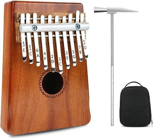 Pulgar Piano Kalimba Caoba/Acacia 10 Teclas Mini Teclado ...