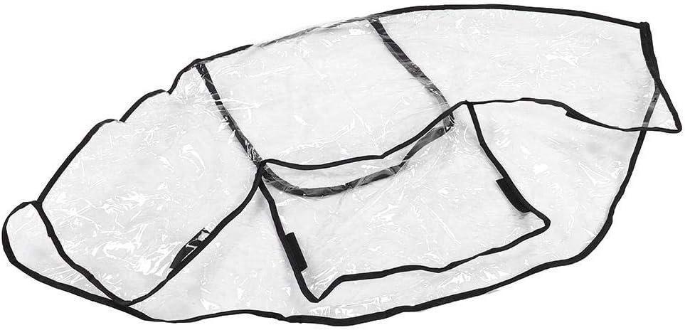 Housse de pluie pour poussette b/éb/é poussette transparente housse de pluie accessoires de poussette taille universelle pare-poussi/ère de vent