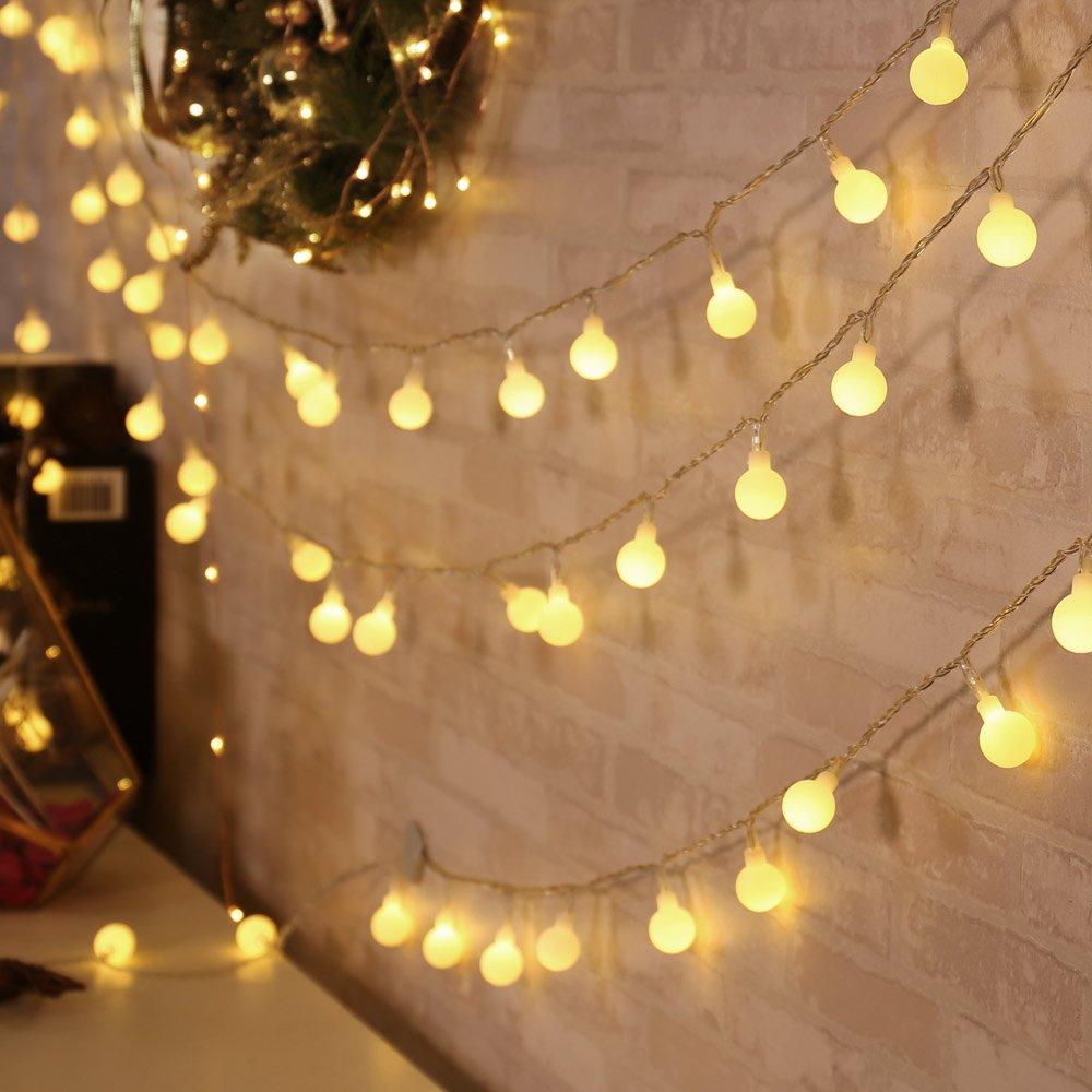 Marvelous Qedertek Luci Natalizie 13M 100 LED Catene Luminose Con Adattatore EU Di Natale  Luci Decorazione Interni Illuminazione Di Natale Luci Addobbi Natalizie Per  ...
