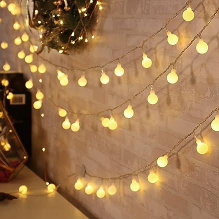 qedertek luci natalizie 13 m 100 led catene luminose di natale ... - Illuminazione Alberi Natale