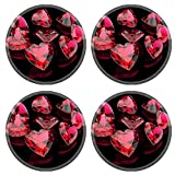 MSD Round Coasters IMAGE 36349685 I love you Heart shape gemstone Collections of jewelry gems Ruby