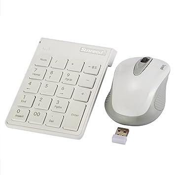USB Teclado numérico y ratón Combo, Sunreed 2,4 G Wireless Mini USB Teclado