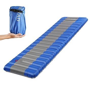 OUTAD Esterilla Inflable, Colchón de Aire Cama al Aire Libre para Cámping Portátil Ultraligero con