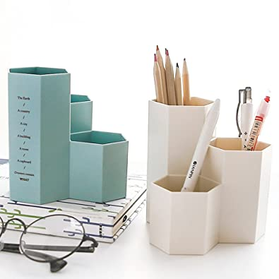 Official Website Stick On Desktop Pen Holder Makeup Storage Pot Case Plastic Desk Organizer Stationery Holder Pencil Vase #921 New Desk Accessories & Organizer