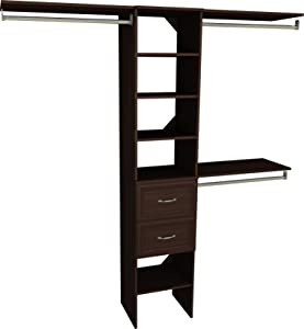 ClosetMaid SuiteSymphony Closet Organizer with Shelves, 4 Drawers, 16-Inch-Espresso