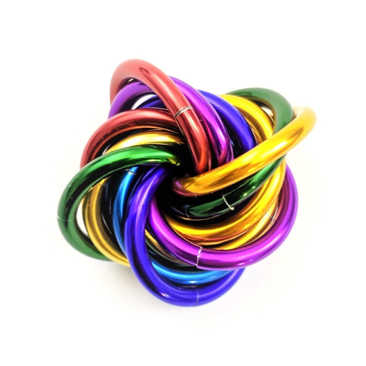 Office Stim Mobii Rainbow School Stress Ball for Restless Hands Medium Mobius Fidget Ball Toy