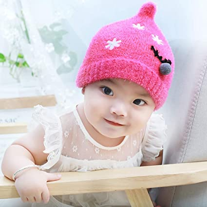 694be924739 Sinwo Toddler Baby Girl Boy Christmas Nipple Knit Hat Beanie Cap Autumn  Winter Warm Hair Ball