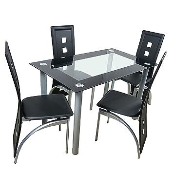Amazon.com: Fuletzapec - Juego de mesa de comedor de 5 ...