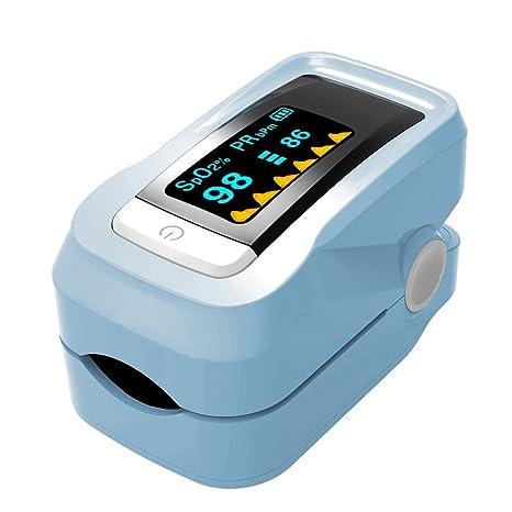 Oxímetro de Dedo YZCX, Medidor de Oxígeno en Sangre y Monitor de Frecuencia Cardíaca con