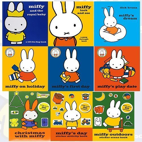 Read Online Miffy Collection Dick Bruna 9 Books Bundle (Miffy's Dream [Hardcover], Miffy Look and See: A Peep Through Book [Hardcover], Miffy and the Royal Baby: A Lift-the-Flap Book [Hardcover].. PDF