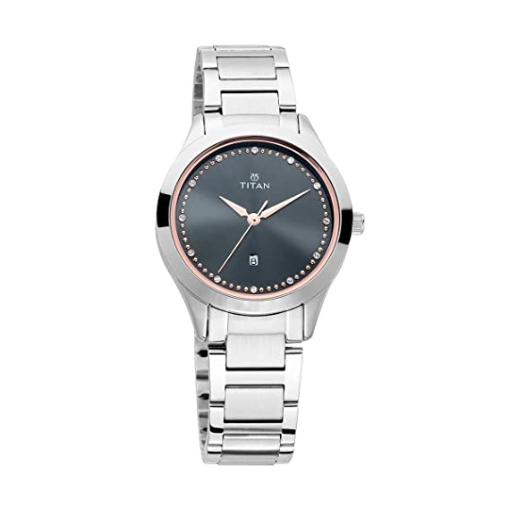 30099b3b08f Buy Titan Purple Fashion Basics Analog Grey Dial Women s Watch-2570SM07  Online at Low Prices in India - Amazon.in