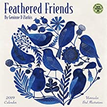 Feathered Friends 2019 Wall Calendar: Watercolor Bird Illustrations