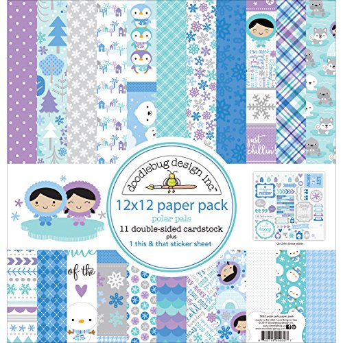 Doodlebug 5032 Double Sided Paper Pack, 12