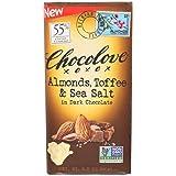 Chocolove Xoxox Bar Almond Toffee Salted, 3.2 Ounce