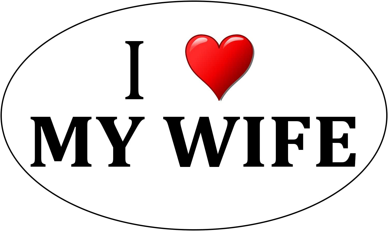 Rogue River Tactical I Love My Husband Sticker Wife Heart Oval 5x3 Car Truck Window Decal Bumper Sticker