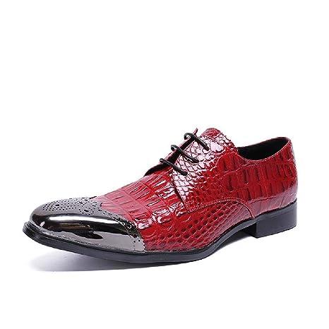 ZZXHG Zapatos de Negocios Transpirables para Hombre Vestido ...