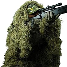Pinty Ghillie Suit 3D 4-Piece with Bag Camouflage Camo Tactical Hunting Forest Woodland