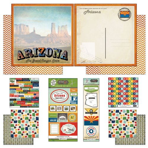 - Scrapbook Customs Themed Paper and Stickers Scrapbook Kit, Arizona Vintage
