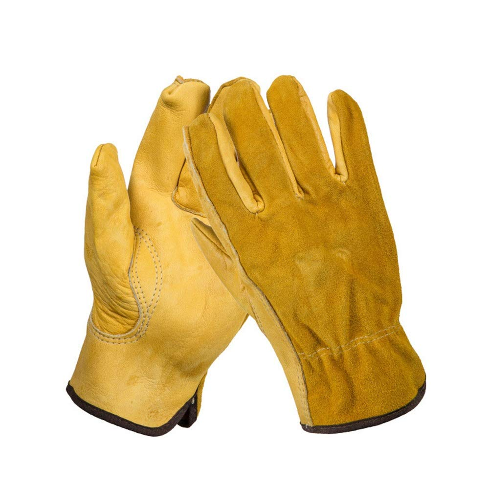 Crystalzhong Gardening Works Pruning Gloves Duty Gardening Gloves for Men and Women Thorn Proof Leather Work Gloves Durable and Flexible Unisex Thorn and Cut Proof Gloves (Size : XL)