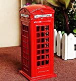 SACT New hot London Street Britain Telephone Booth Souvenir Gift Model Box Jar Coin Spare Change Piggy Bank Money Box red