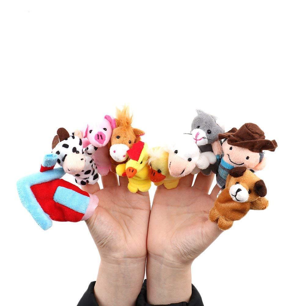SuxiDi 10 PCS Finger Educational Puppets Story Old Macdonald Had A Farm Mine tShinesun