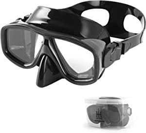 HH HHAO SPORT Snorkel Diving Mask for Adult, HD Scuba Mask Snorkel Goggles with Storage Box for Snorkeling, Free-Diving, Spearfishing, Snorkel Gear Food Grade Silicone Mask, Quick Adjusting