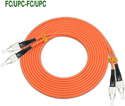 2 Meters LC to FC OM1 Duplex Fiber Patch Cord Jumper Cable 62.5//125,LC-FC