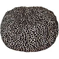 Ahh! Products Tan Giraffe Animal Print Fur Washable Large Bean Bag Chair