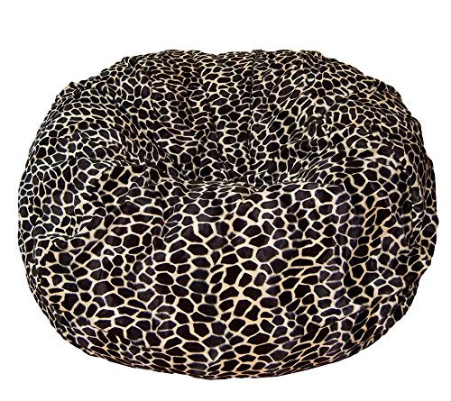 Ahh! Products Tan Giraffe Animal Print Fur Washable Large Bean Bag Chair by Ahh! Products