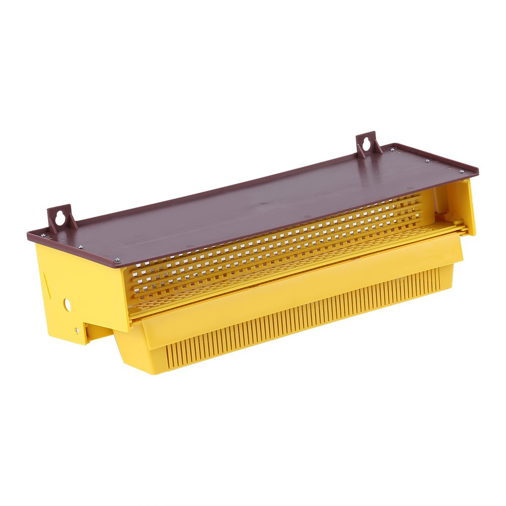 Beekeeping Plastic Pollen Trap Yellow with Removable Ventilated Pollen Tray Pollen Collector Supplies Tools, 39 × 14 × 10cm Walfront CMSBNAN01893