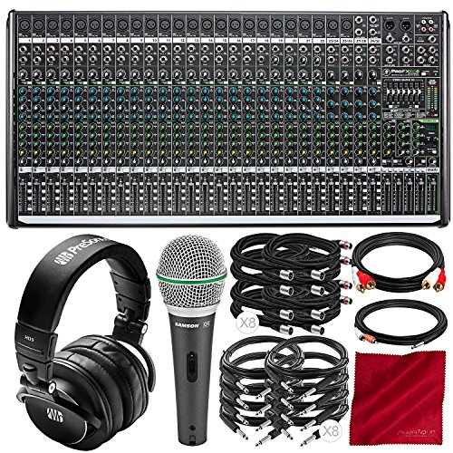 (Mackie ProFX30v2 30-Channel Sound Reinforcement Mixer with USB and Effects Bundled with PreSonus HD9 Professional Monitoring Headphones, Samson Q6 Microphone, and Assorted Cables Platinum Audio Bundle)