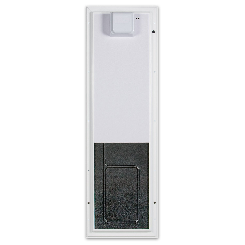 PlexiDor Performance Pet Doors Electronic Dog Door Large White Wall Mount by PlexiDor Performance Pet Doors