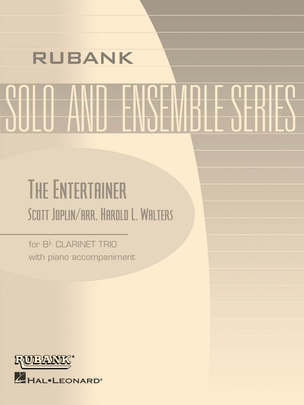Rubank Publications The Entertainer (Three Bb Clarinets with Piano - Grade 2.5) Rubank Solo/Ensemble Sheet Series Softcover PDF