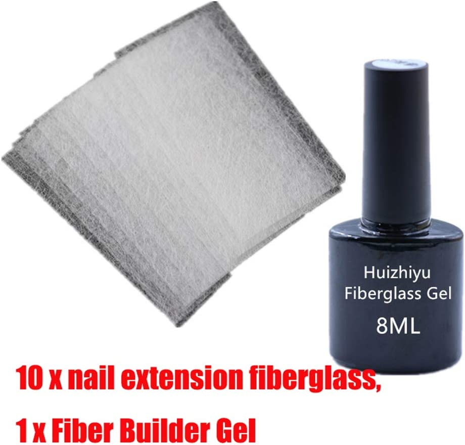 hgjhgkljhk Extensión de Puntas de Gel de Fibra de Vidrio Kit de Fibra Extensión de Belleza para extensión de Gel Herramienta de Arte de manicura DIY para uñas