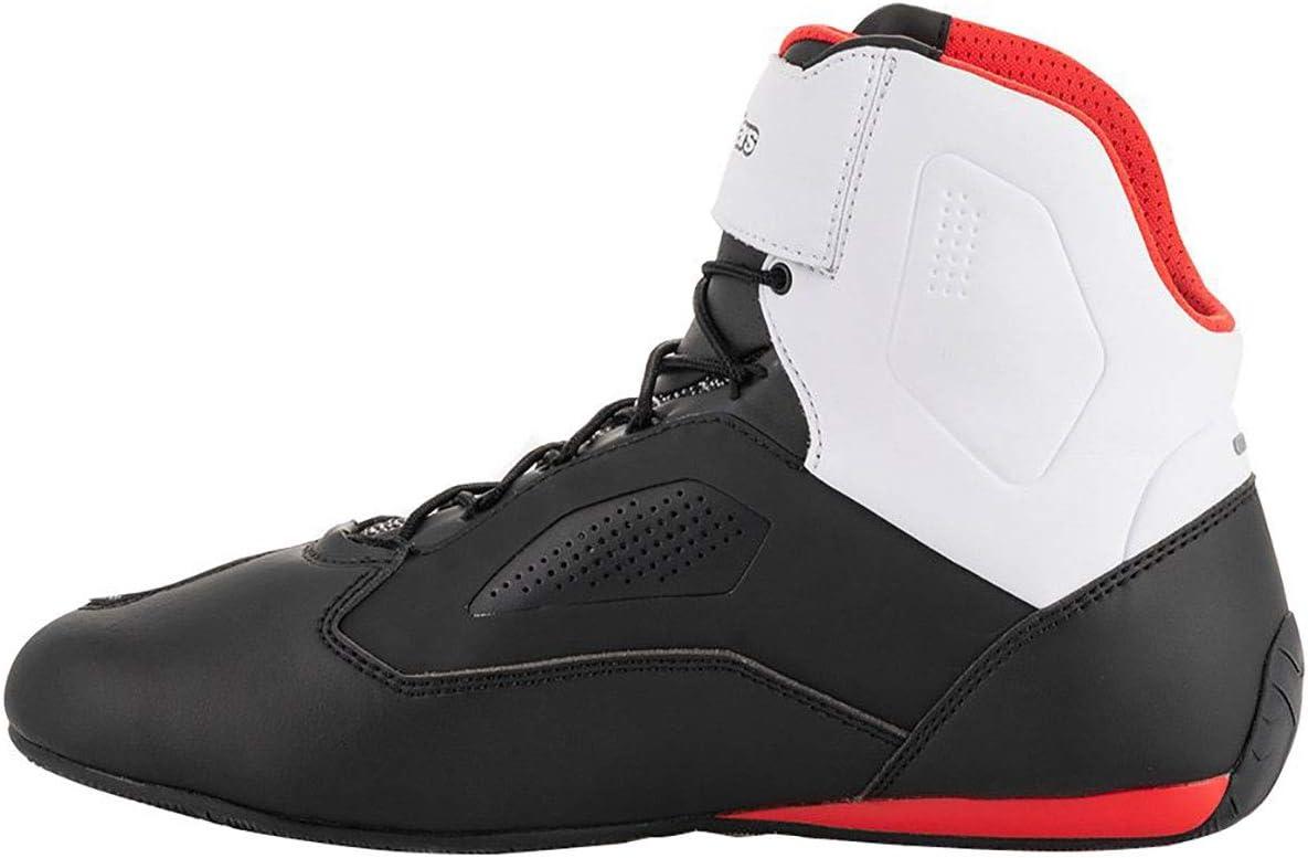 12.5 Alpinestars Mens Faster-3 Rideknit Motorcyle Riding Shoe Black//White//Red