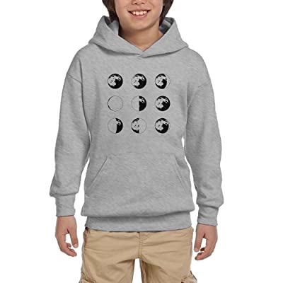 Phases Moon Youth Pullover Hoodie Hip Hop Pocket Sweatshirts
