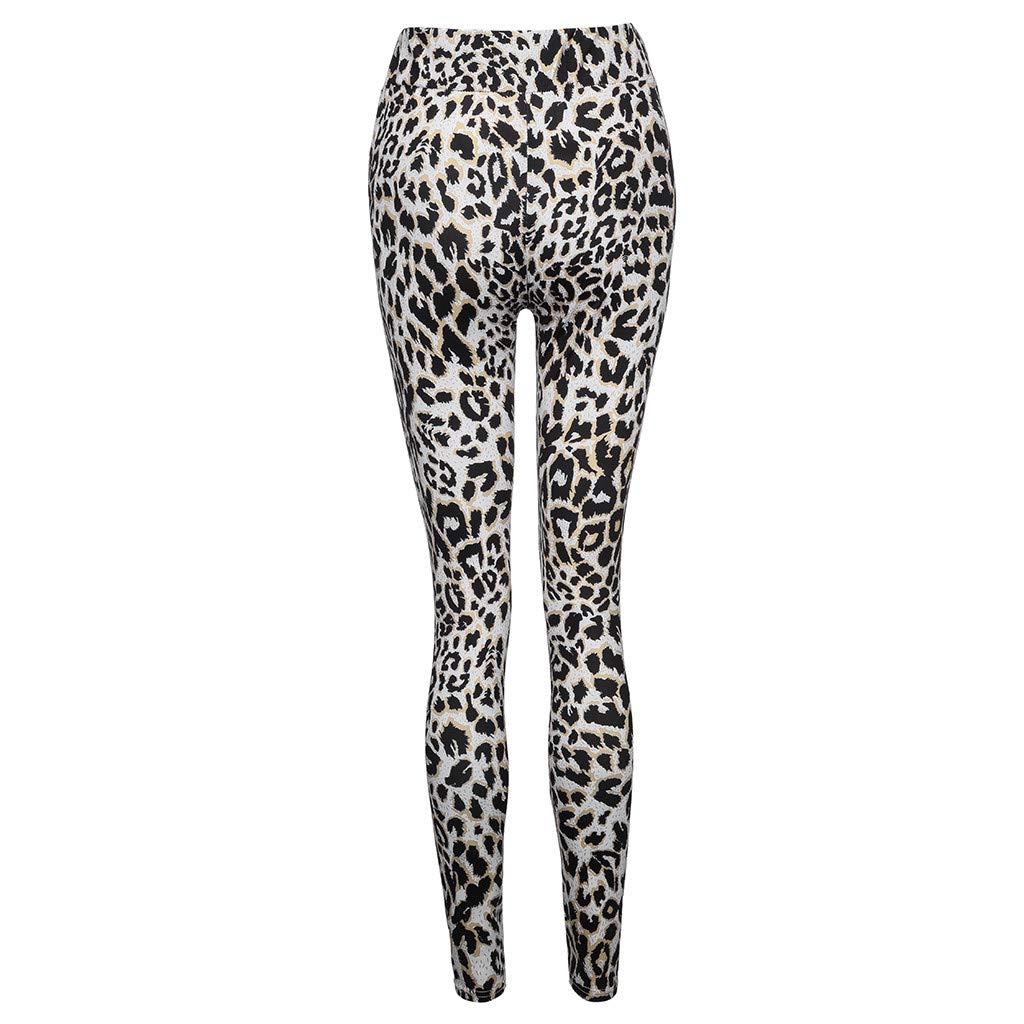 Ansenesna Hose Damen Leopard Schlange Stretch Skinny Elegant Freizeithosen Frauen mit Gummibund Leggings