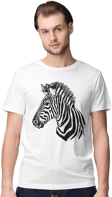 BLAK TEE Hombre Animal Kingdom Zebra Portrait Camiseta: Amazon.es: Ropa y accesorios